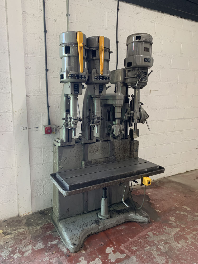 Herbert 4 Spindle in Line Drill. Table Size 46'' x 15 1/2''. - Image 2 of 4