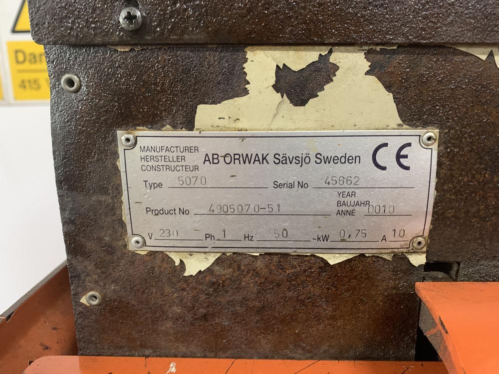 AB ORWAK Type 5070 Twin Cardboard Bailing Machine. - Image 5 of 5