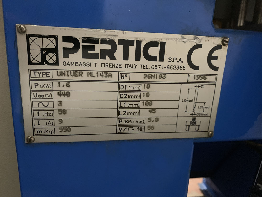 Pertici Univer Model ML143 Water Slot Router. - Image 10 of 10