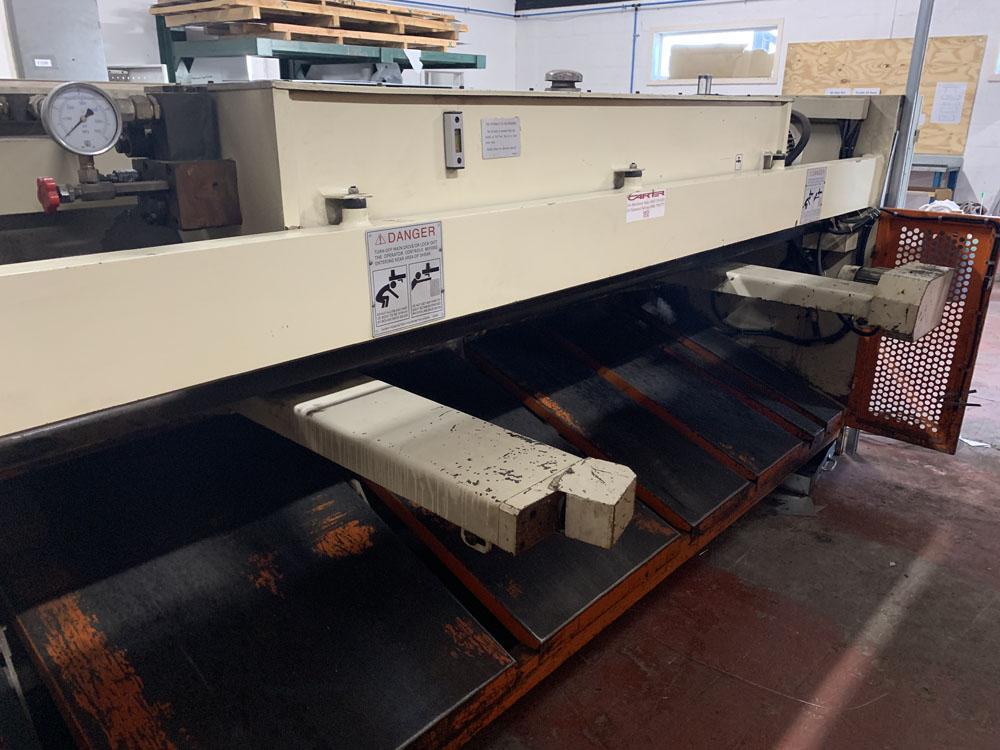 CARTER Model QC12 K-6 x 3200 Hydraulic Sheet Metal Guillotine. - Image 5 of 8
