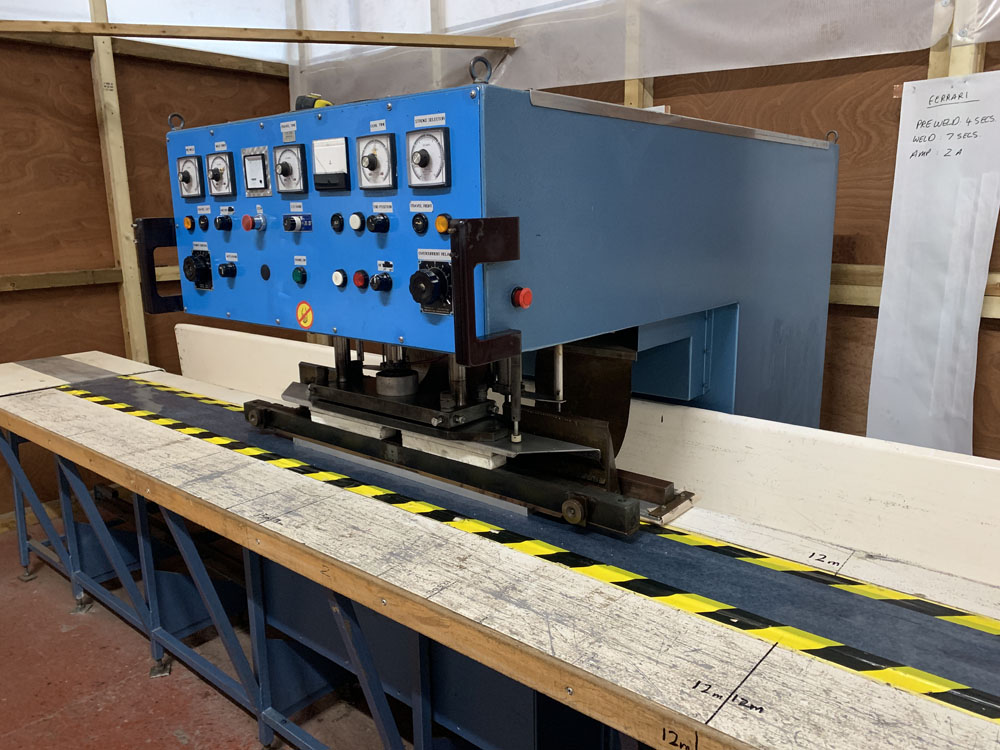 Flodins Plastic Sheet Seam Welding Machine. Table Length 17,500mm. - Image 6 of 15