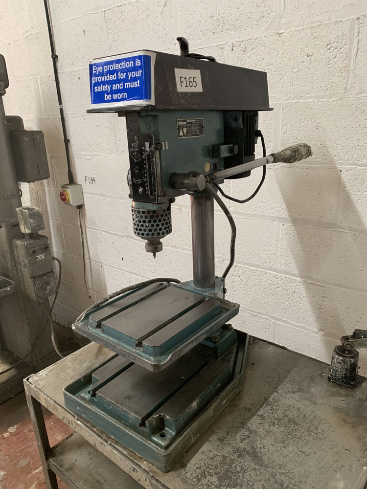 Meddings LF2 Bench Drill. 3 Phase. Table Size 10'' x 10 1/2 ''.
