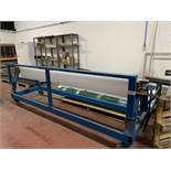 """Mobile Material roller with cutting off rest. 10' (120"""") maximum material length."""