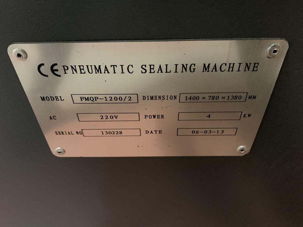TTF Ltd Model FMQP Pneumatic Sealing Machine. Single Phase. Year 2013. - Image 5 of 5