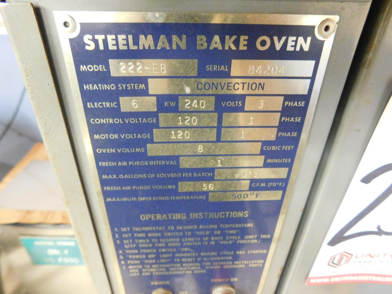 Lot 25 - STEELMAN BAKE OVEN, MODEL 222-EB, ELECTRIC, 500°F, S/N 84204
