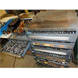 LOT - (2) CABINETS W/ CONTENTS INSIDE & ON TOP OF TOOLING FOR THE WIEDEMANN CENTRUM C-1000