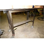 24'' X 60'' ROLLING WORK TABLES (NO CONTENTS)