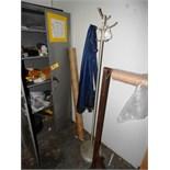 2-DOOR STEEL CABINET, COAT RACK & BUBBLE WRAP DISPENSER