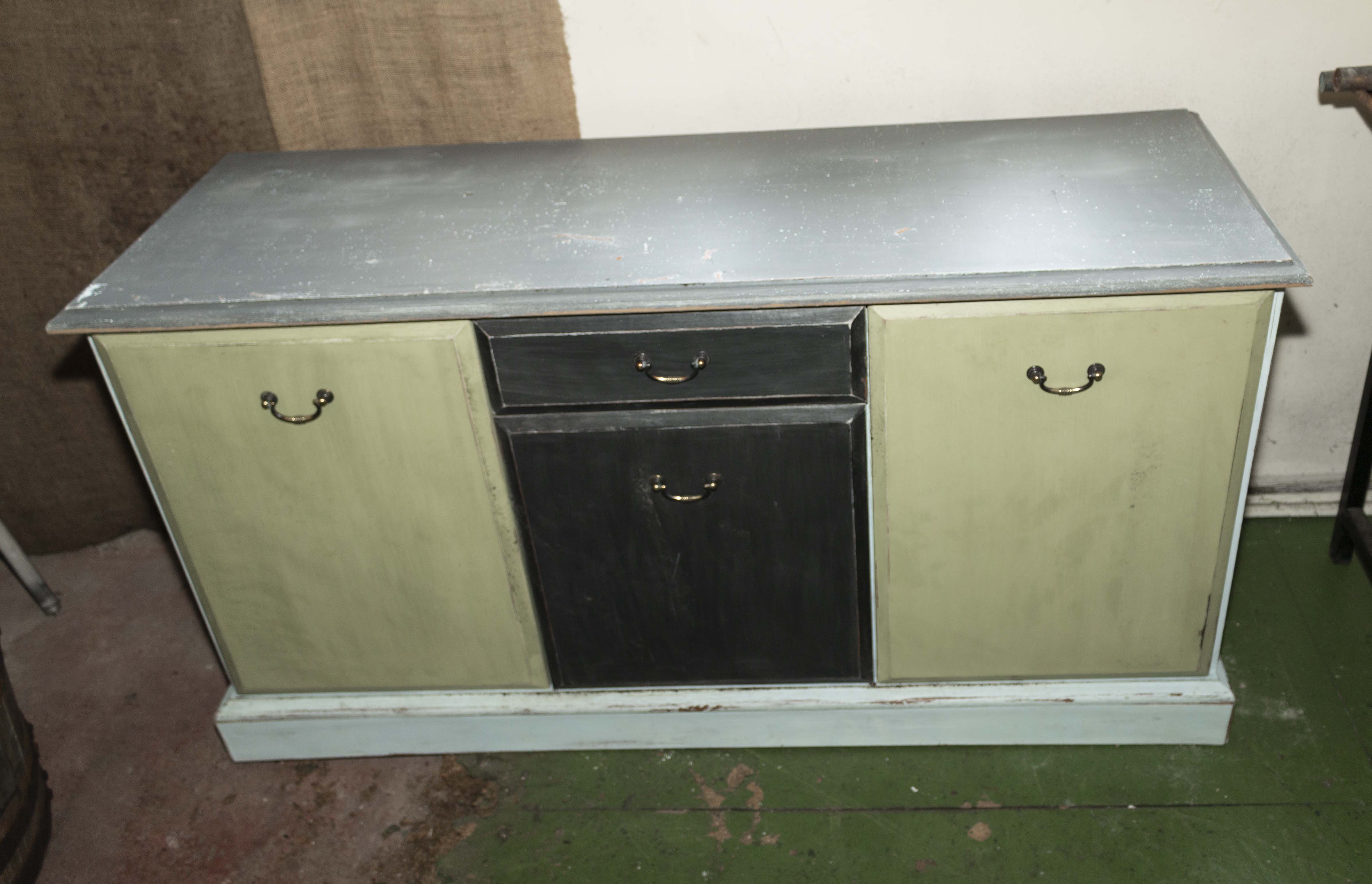 A painted side cabinet