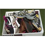 A box of trainers and shoes