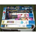 A selection of jigsaws and games