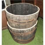 Two half barrels