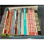 A box containing children's annuals