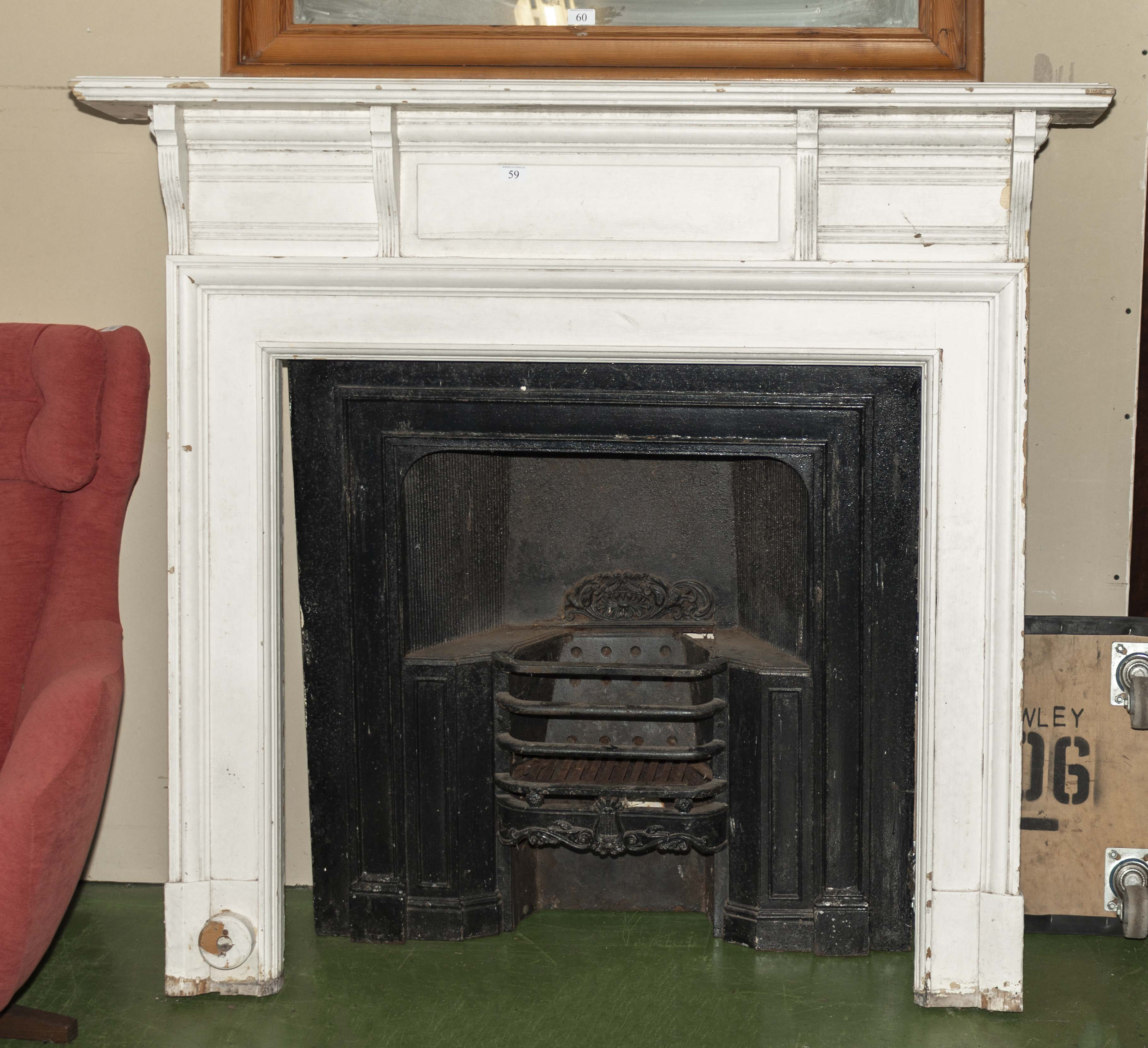 Lot 59 - Fire place and insert