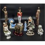 Assorted pottery figures