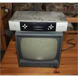 A television and sky box