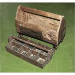 Vintage wooden tool boxes