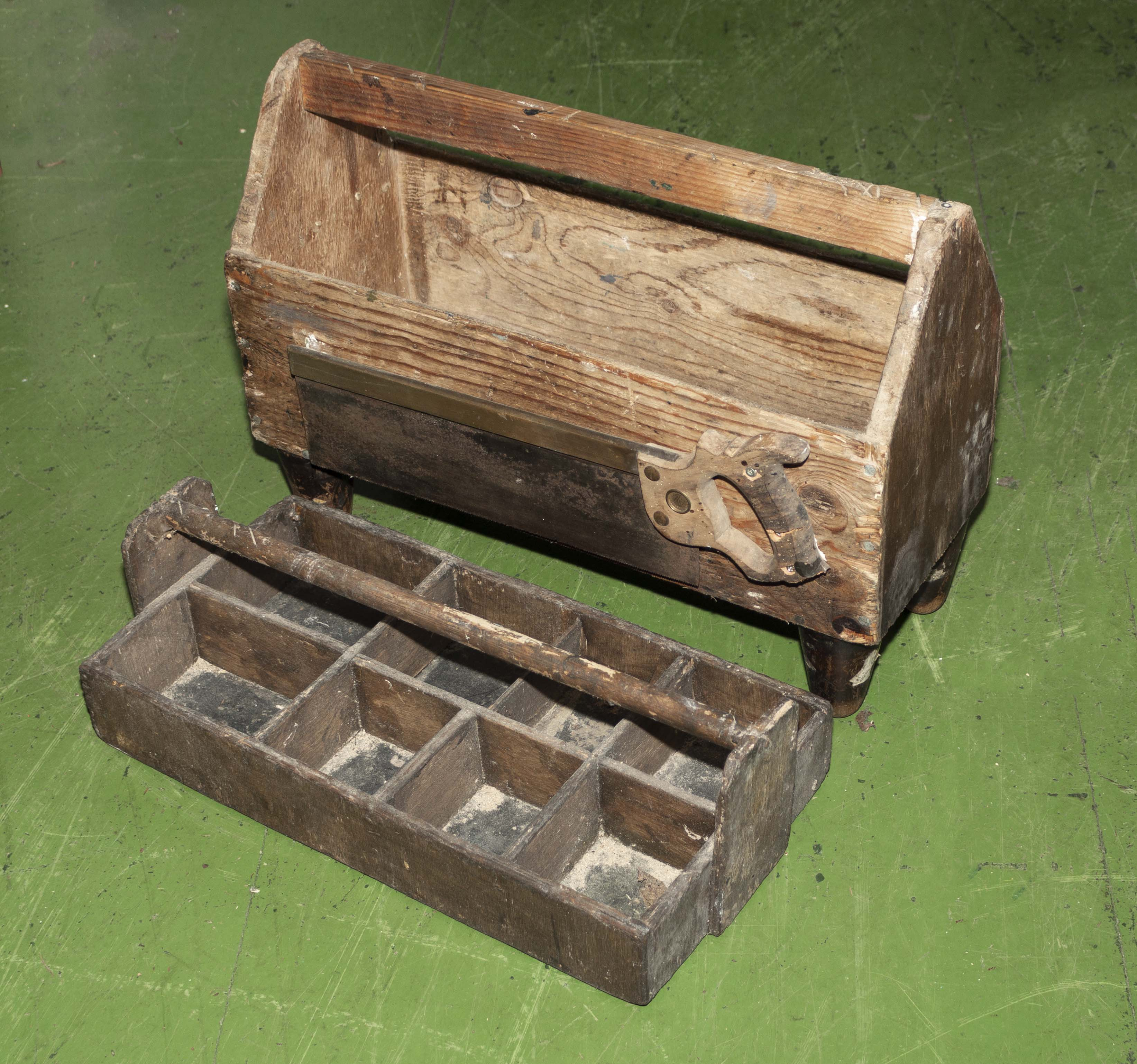 Lot 17 - Vintage wooden tool boxes