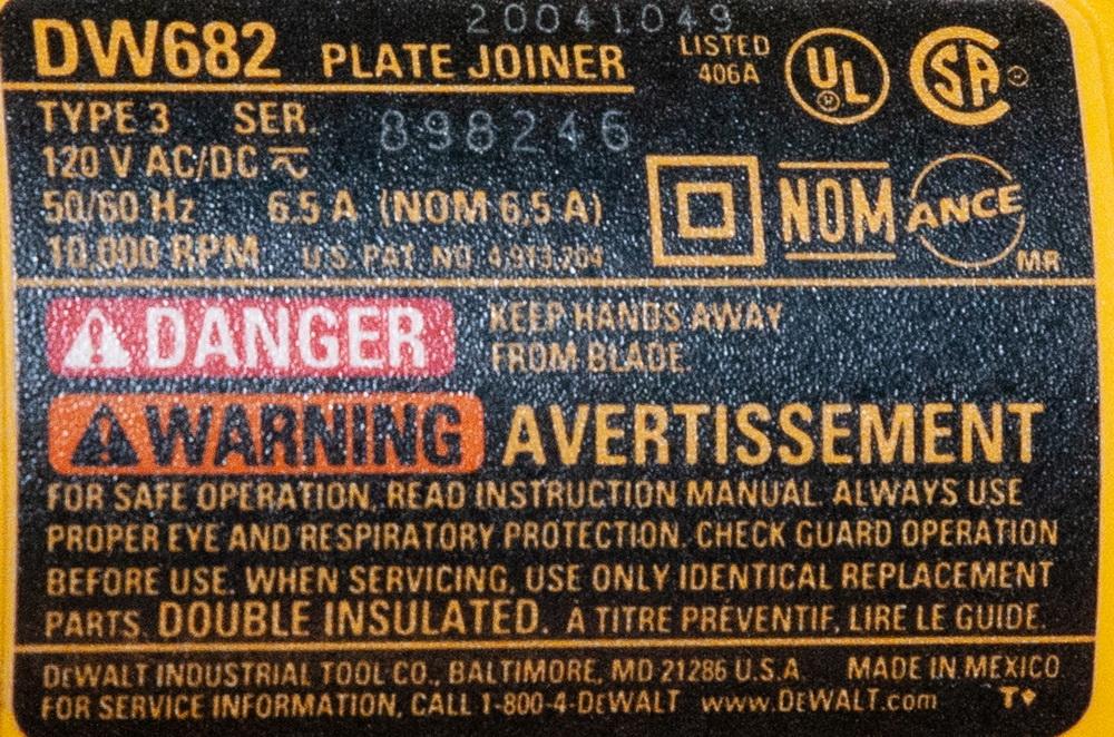 Dewalt Biscuit Slot Cutter/Plate Joiner DW682 in Case - Image 2 of 2