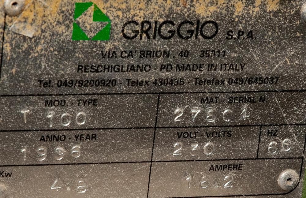 Griggio T100 Shaper, 230v, w/Powermatic PH 43 Roll Feed s/n 27804 - Image 2 of 4
