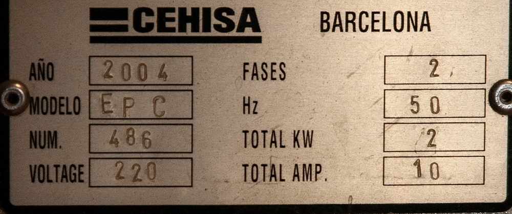 2004 Cehisa EP-C Contour Edge Bander, 220v w/ (2) small Racks edge Banding, s/n 486 - Image 2 of 5