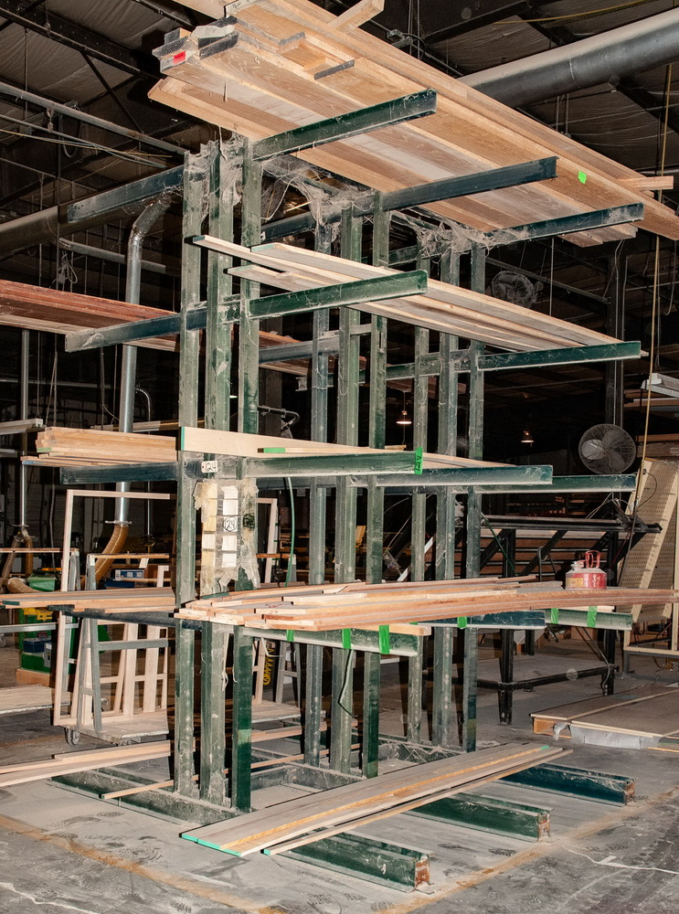 Double Sided Cantilever Rack approx. 12' Tall x 85 Inch Long, 45 Inch Arms, No Contents