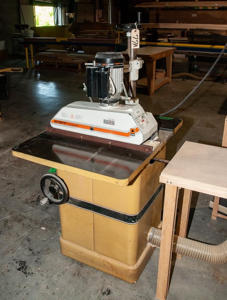 Powermatic Model 66, 10 Inch Tilting Arbor Table Saw, s/n 99661870, w/ Steff 2044, roll feed