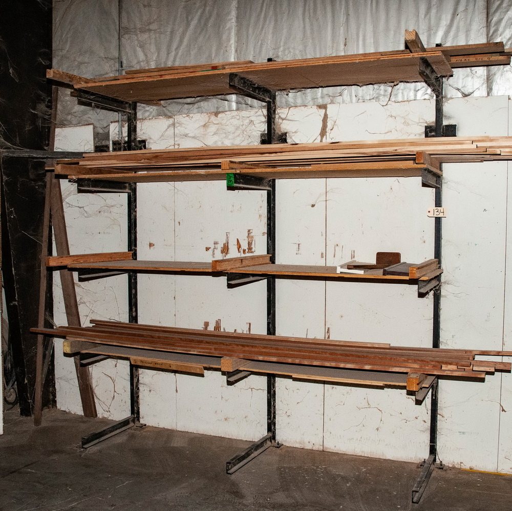 Single Sided Cantilever Rack approx. 9' Tall x 93 Inch Long, 24 Inch Arms, No Contents