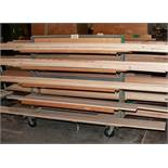 Steel Rolling Double Sided Cantilever Cart Approx. 56 Inchtall x 5' Long, 12 Inch Arms. No Contents