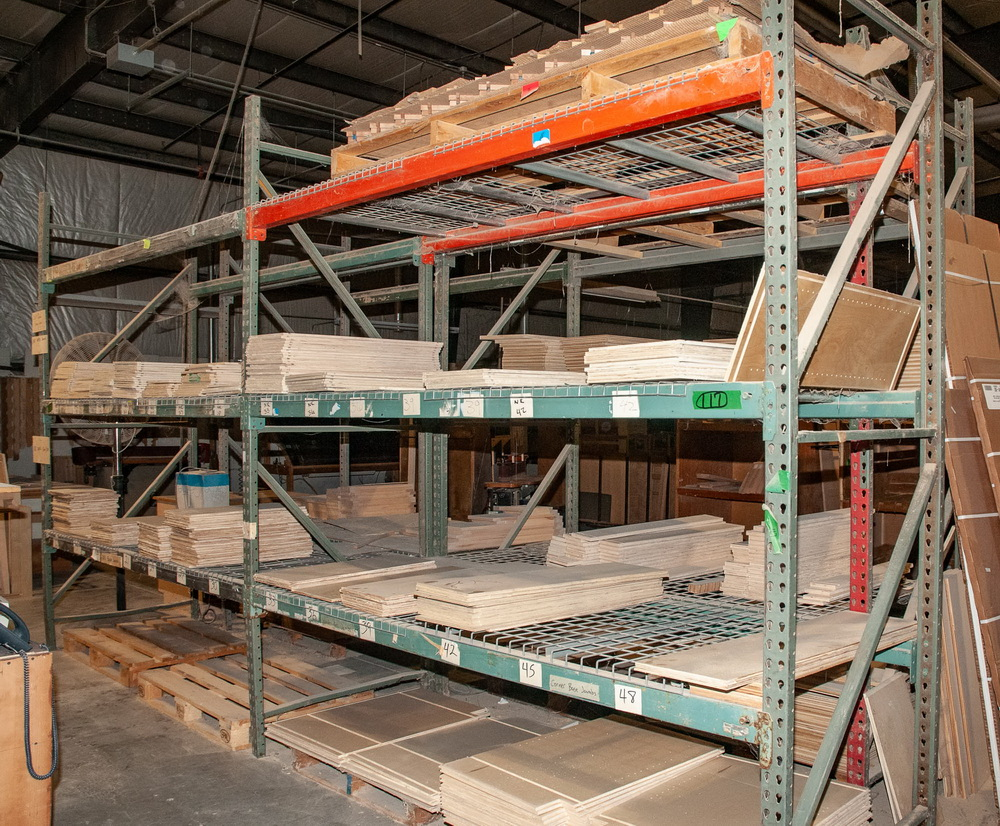 (2) Sections Pallet Rack Interlake Style