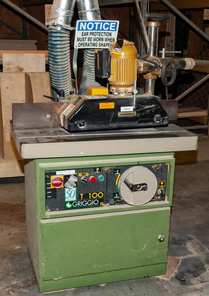 Griggio T100 Shaper, 230v, w/Powermatic PH 43 Roll Feed s/n 27804