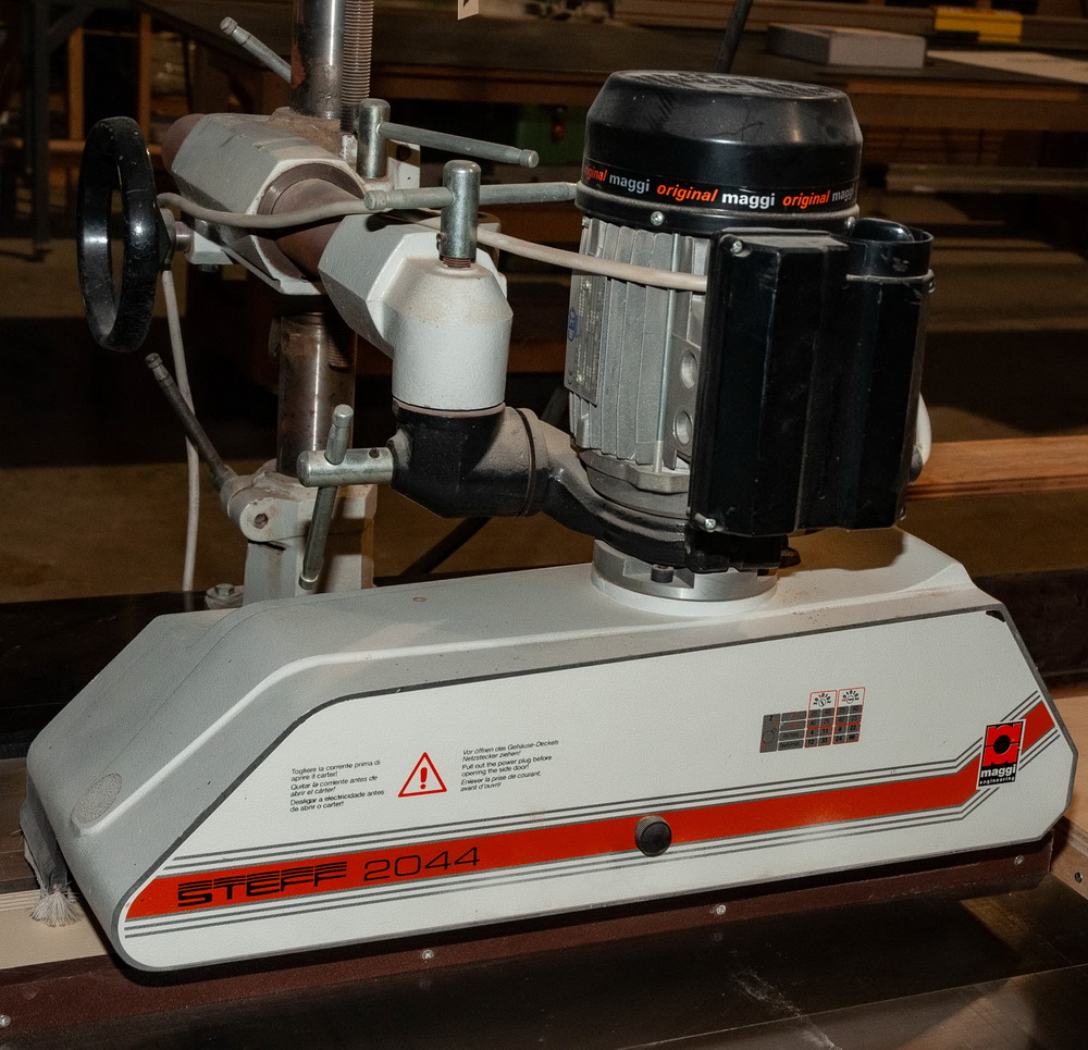 Powermatic Model 66, 10 Inch Tilting Arbor Table Saw, s/n 99661870, w/ Steff 2044, roll feed - Image 3 of 5
