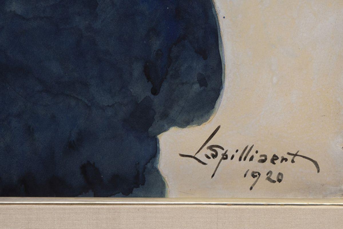 Los 55 - SPILLIAERT LÉON (1881 - 1946) schilderij in gemengde techniek (aquarel, pastel en [...]