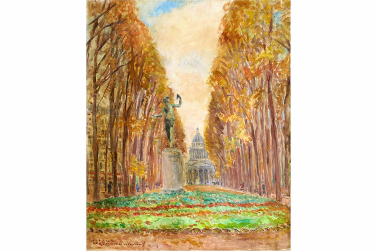 """Los 50 - YAKOVLEV MIKHAIL NIKOLAEVICH (1880 - 1942) olieverfschilderij op doek : """"Zicht van de [...]"""