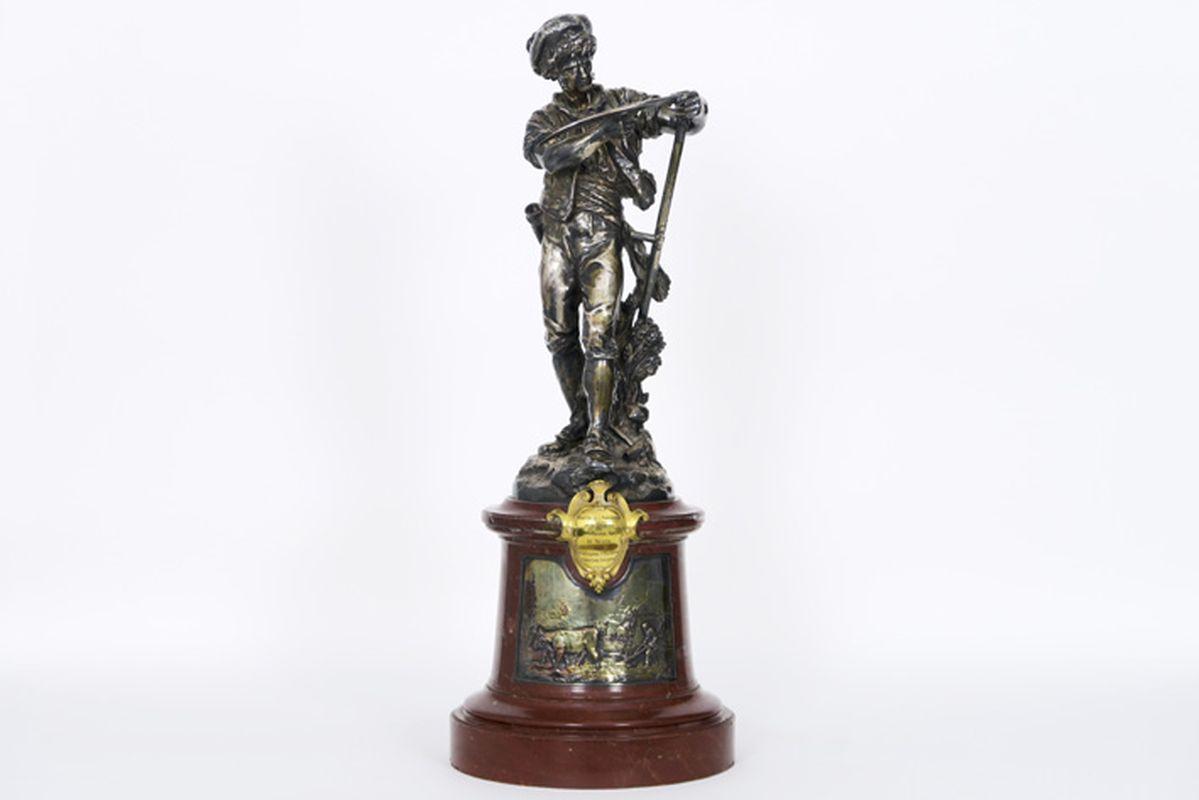 Los 30 - CHRISTOFLE et Cie negentiende eeuwse sculptuur in brons met zilverpatine met de [...]
