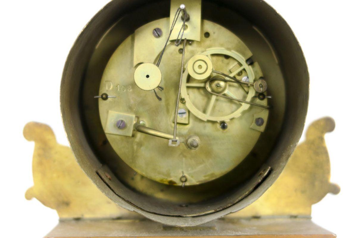 Los 12 - Antieke klok (met thermometer) met een kast in marqueterie, versierd met gedoreerd [...]