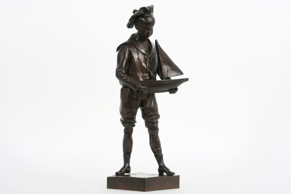 Los 32b - LAPORTE ÉMILE (1858 - 1907) antieke sculptuur in brons met een schattig thema : [...]