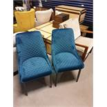 A Pair Velvet Dining Chairs