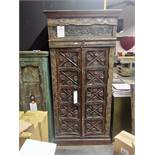 Antique Anglo Indian Carved Cabinet