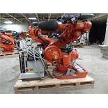 ABB ROBOT IRB 7600 6 AXIS CNC ROBOT 500KG X 2.55M, W/ IRC5 CONTROLLER, CABLES & TEACH YEAR 2012