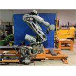 MOTOMAN ES200N 6 AXIS CNC ROBOT WITH NX100 CONTROL ON 16' 7TH AXIS TRACK, YEAR 2063, SN S6N214-2-M