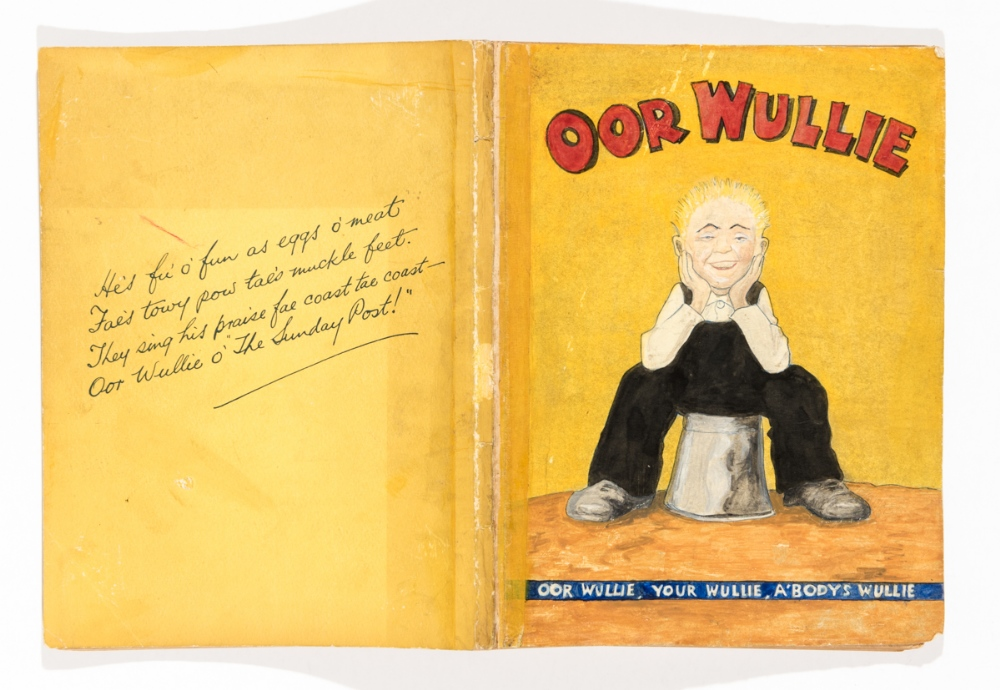 Lot 81 - Oor Wullie Book 1 (1941). With amateur painted replacement front cover, detached. Original back