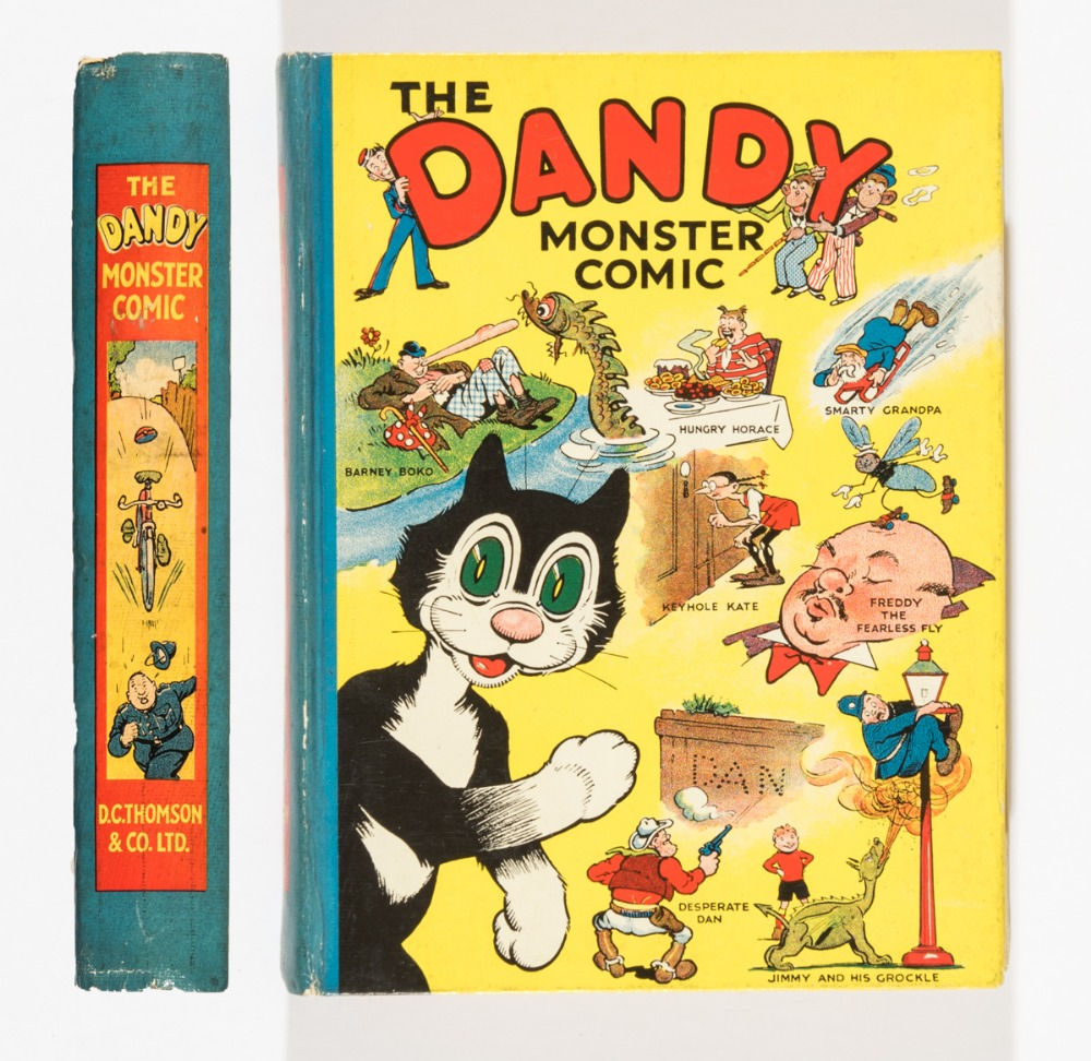 Lot 18 - Dandy Monster Comic 1 (1939). Korky introduces Desperate Dan, Keyhole Kate and all the Dandy