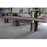 "STEEL LAYOUT TABLE, 48"" x 240"" x 7/8"" thk."