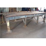 "STEEL LAYOUT TABLE, 60"" x 132"" x 1"""