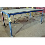 "LOT OF PORTABLE STEEL TABLES (4), 48"" x 96"""
