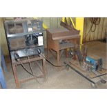 MIG WELDER, MILLER MDL. CP302, 300 amps @ 32 v., 100% duty cycle, Miller 60 Series wire feeder, S/