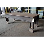 "STEEL LAYOUT TABLE, 48"" x 95-1/2"" x 7/8"" thk."