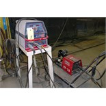 INVERTER WELDER, MILLER MDL. EX350I, 350 amps @ 32 v., 100% duty cycle, Lincoln Mdl. LF72 wire