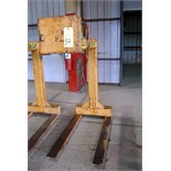 CRANE FORK LIFTING ATTACHMENT, CALDWELL 3 T. CAP., Mdl. 90-3-48, S/N 06-90216-2